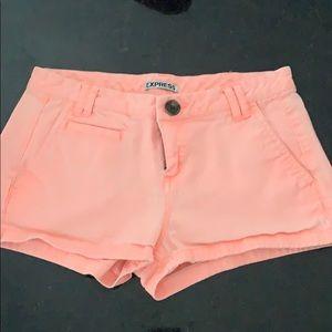 Express bright pink shorts